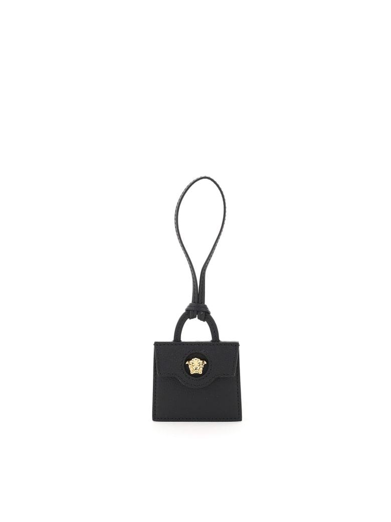 Versace La Medusa Bag Charm - BLACK (Black)