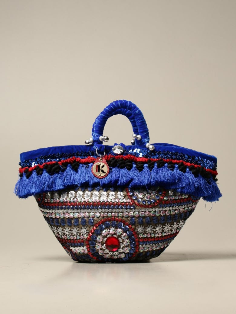 Sikuly Handbag Liganza Sikuly Coffa Bag With Tassels And Sequins - Multicolor