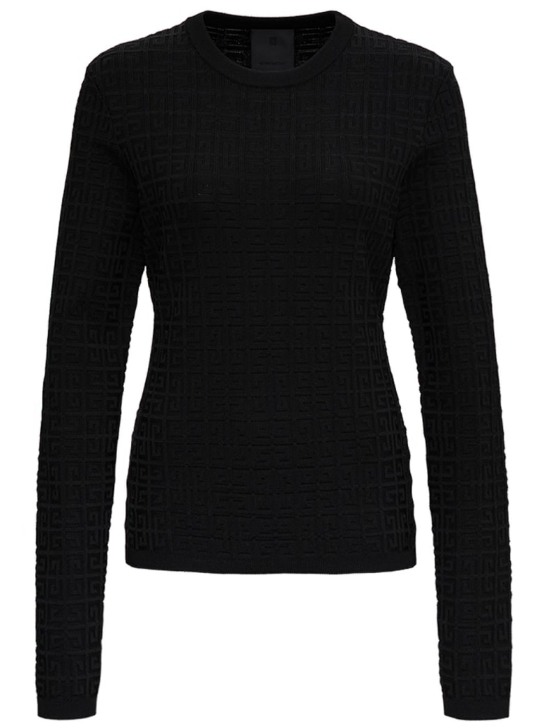 Givenchy Long-sleeved Sweater With 4g Motif - Black