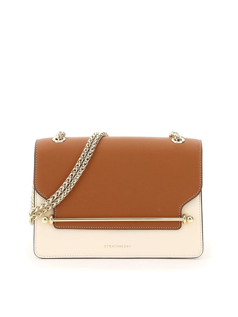 Strathberry East/west Two-tone Bag - TAN VANILLA (White)