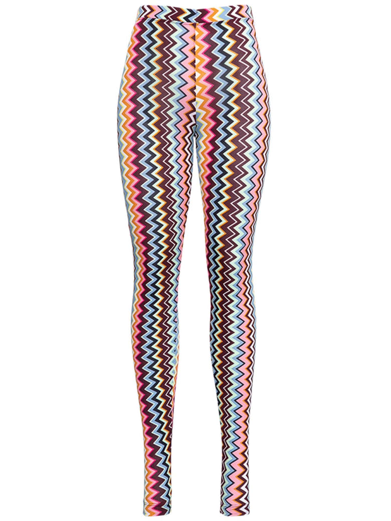 M Missoni Zig Zag Rayon Blend Leggings - Multicolor