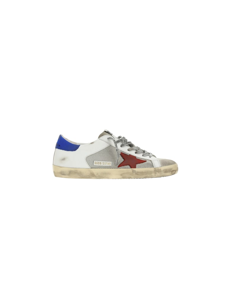 Golden Goose Superstar Sneakers - Silver/white/red/blue