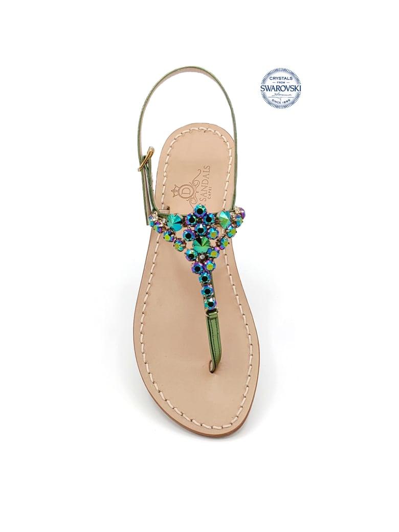 Dea Sandals Costa Smeralda Jewel Flip Flops Sandals - green