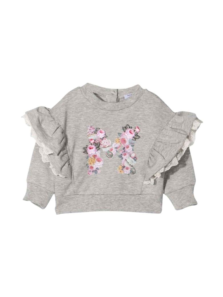 Monnalisa Newborn Gray Sweatshirt - Grigio
