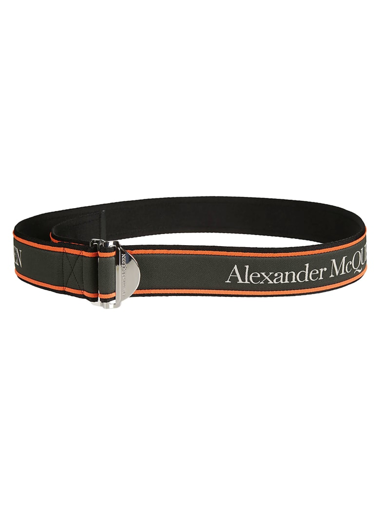 Alexander McQueen Logo Belt - Kaki