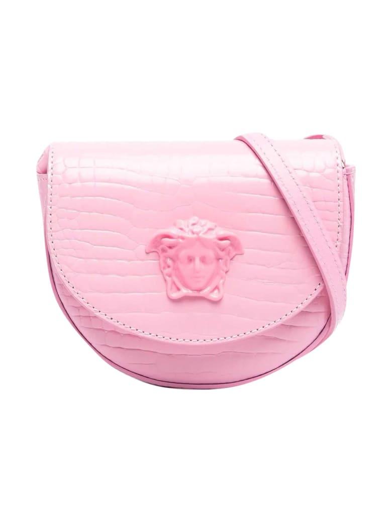 Young Versace Shoulder Bag With Medusa Logo - Rosa/oro
