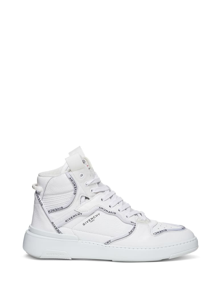 Givenchy High Top Wing Sneakers In Leather With Logo - White