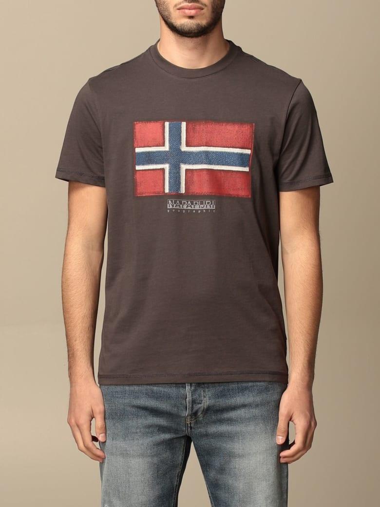 Napapijri T-shirt Sirol Napapijri T-shirt In Cotton With Print - Grey