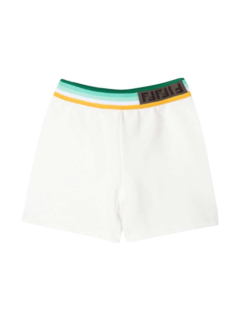 Fendi White Shorts - Bianco/verde