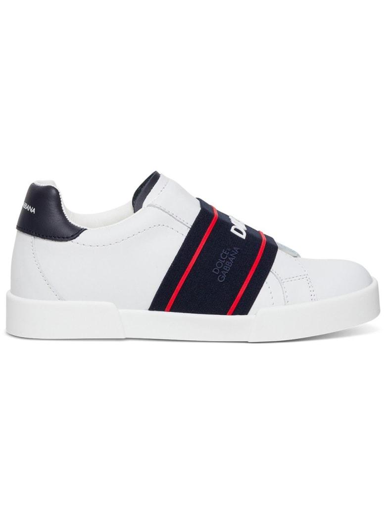 Dolce & Gabbana Sneaker With Logo Band - White