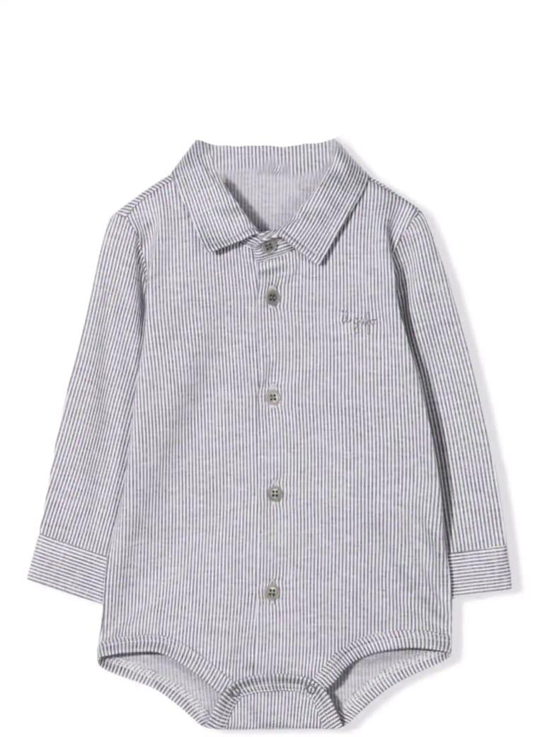 Il Gufo Striped Bodysuit - Steel