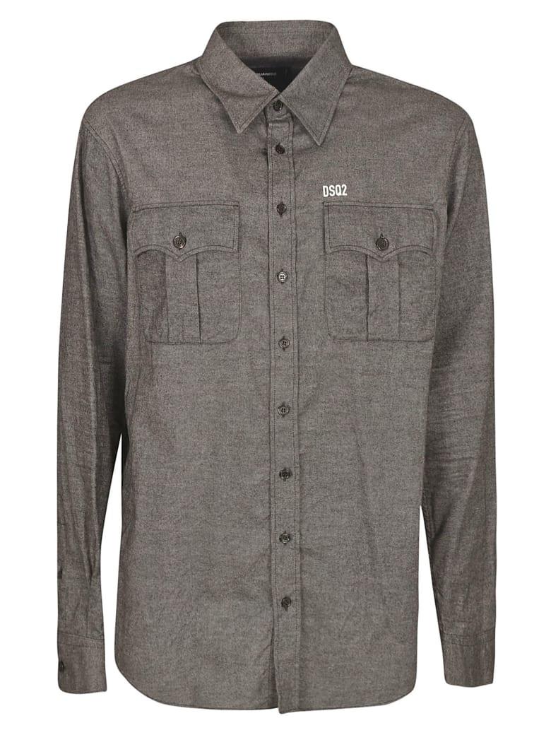 Dsquared2 Regular Fit Plain Shirt - Grigio