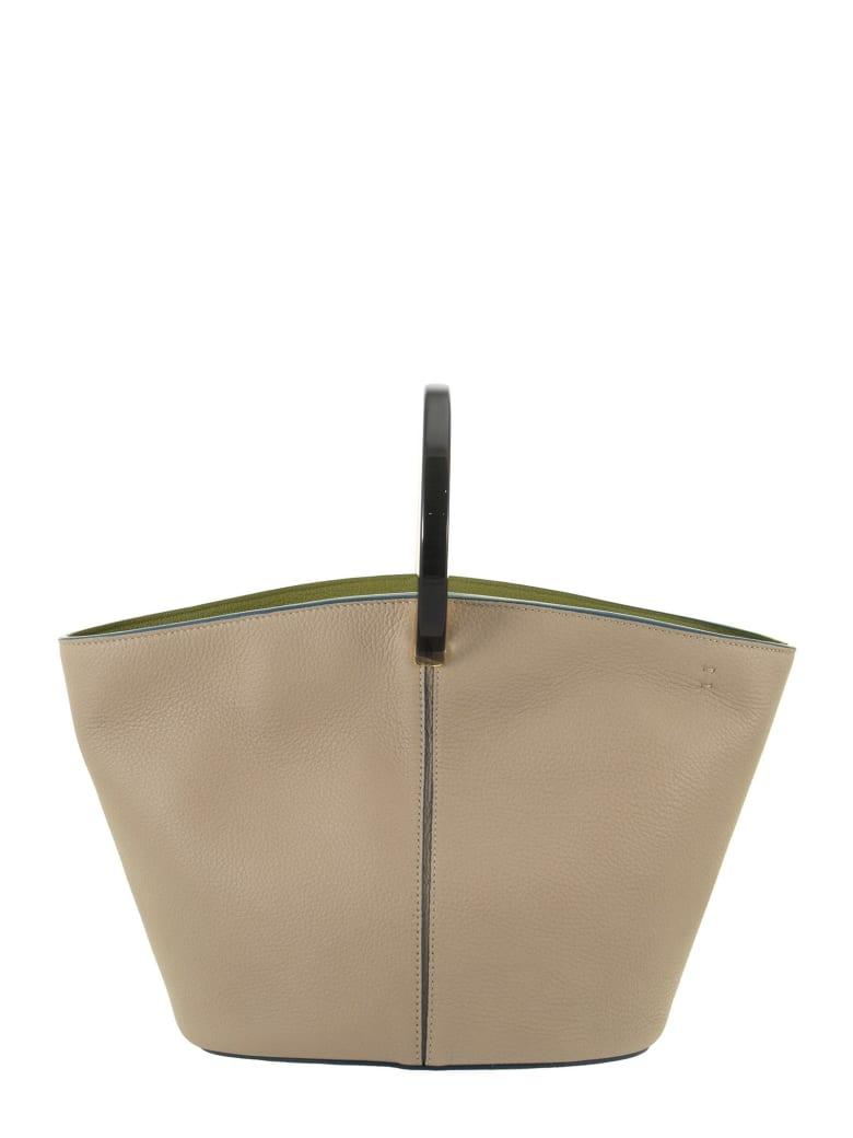 Marni Tote Pannier - Leather Bag - Light Camel