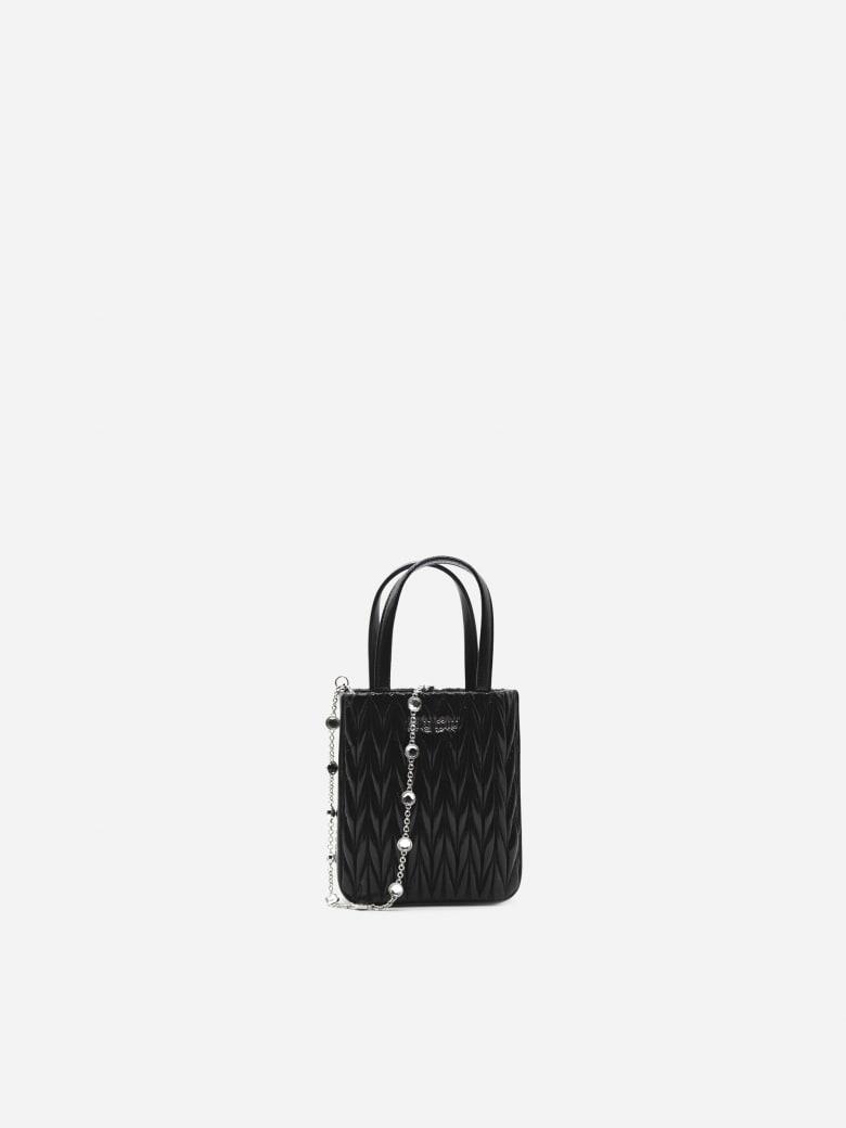 Miu Miu Handbag In Quilted Nappa Leather - Black