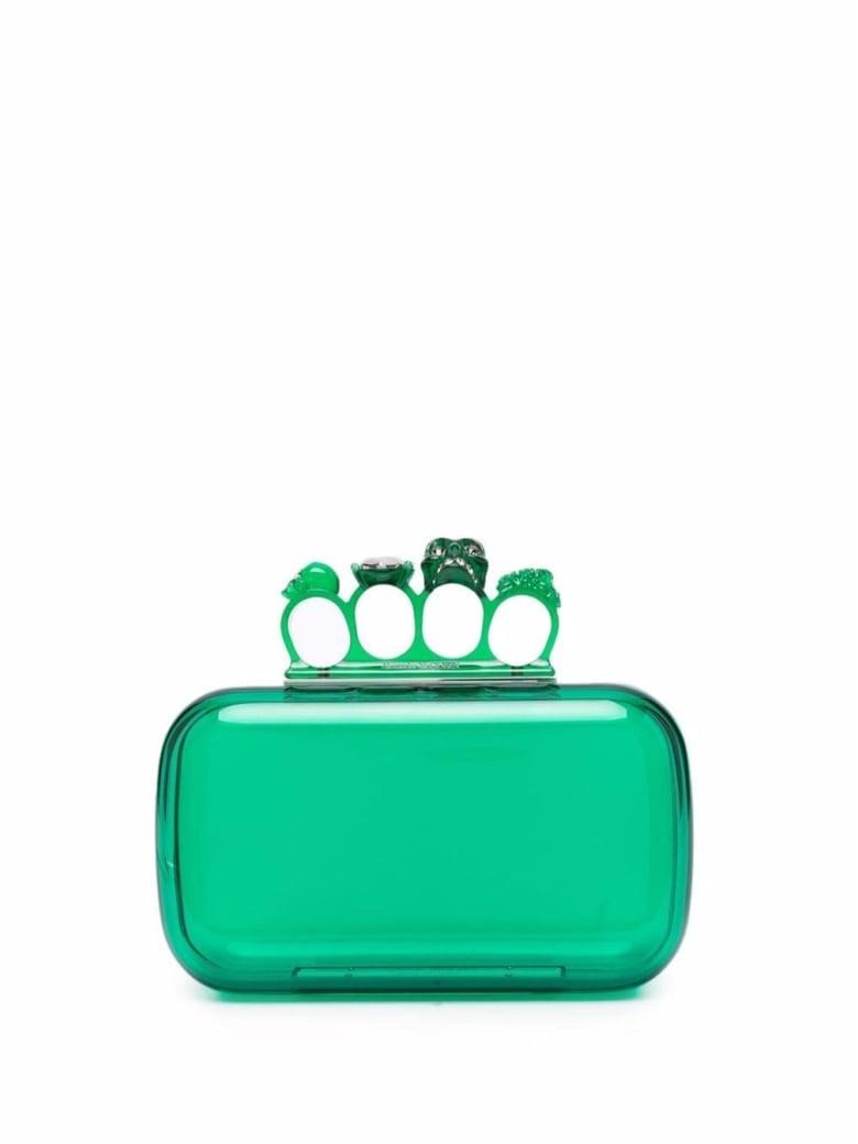 Alexander McQueen Four Ring Skull Green Handbag - Green