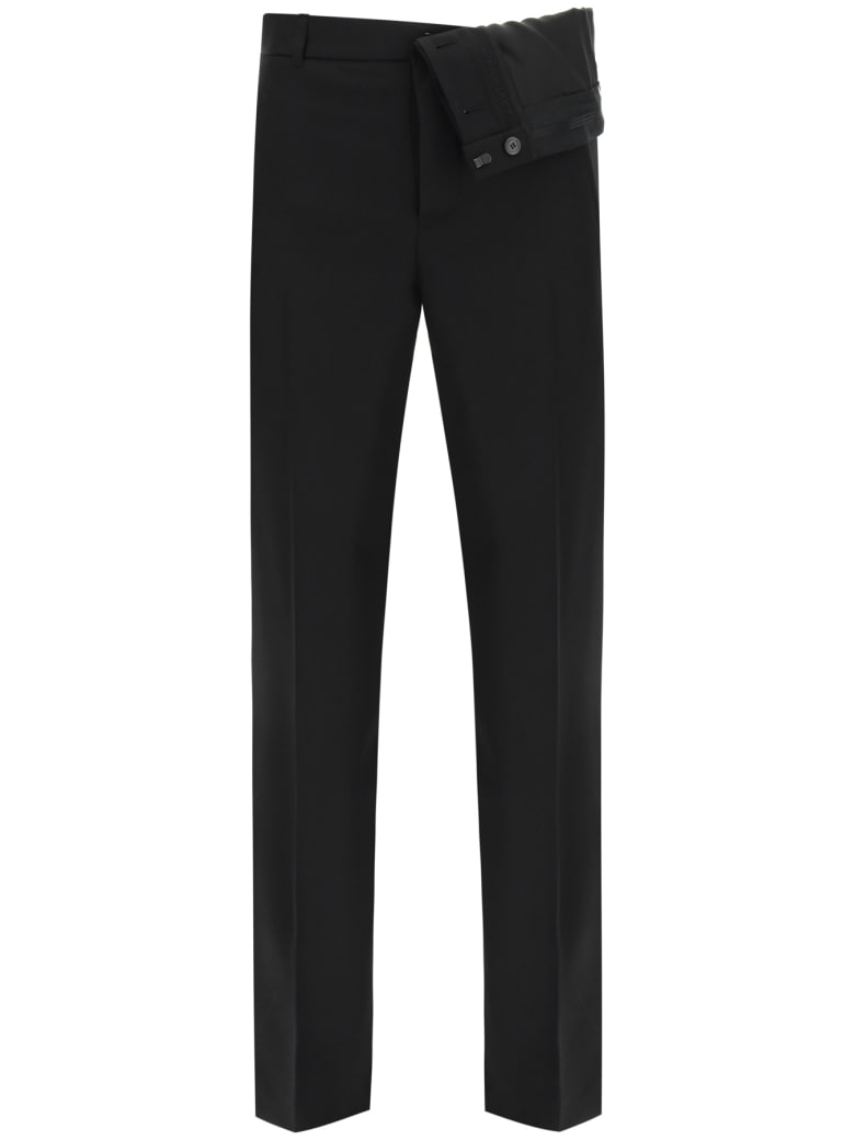 Y/Project Trousers With Asymmetric Waist - BLACK (Black)
