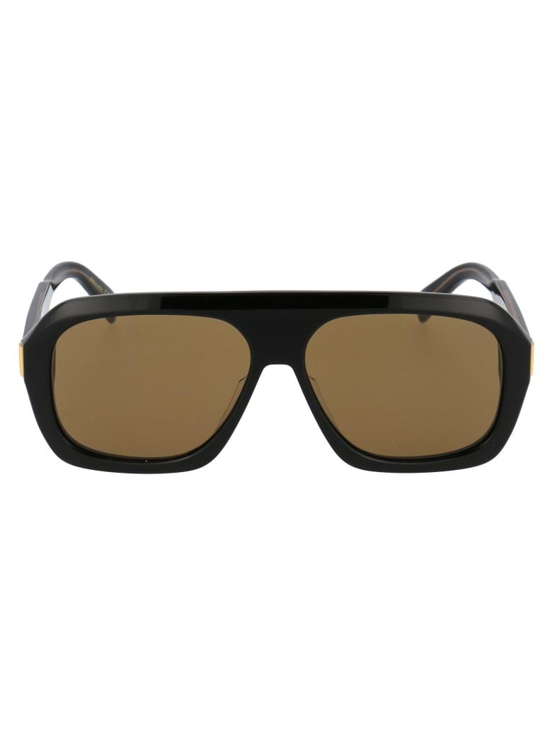 Dunhill Du0022s Sunglasses - 001 BLACK BLACK BROWN
