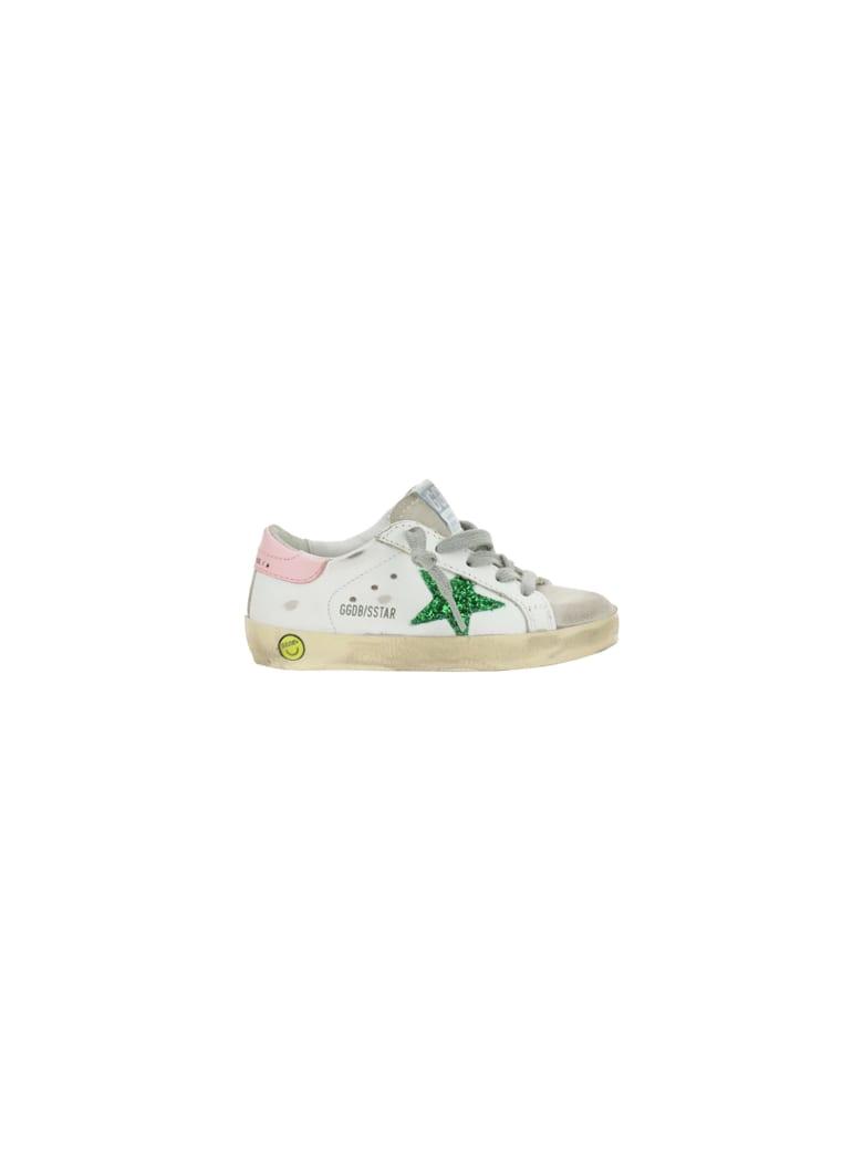 Golden Goose Supestar Sneakers For Girl - White/emerald