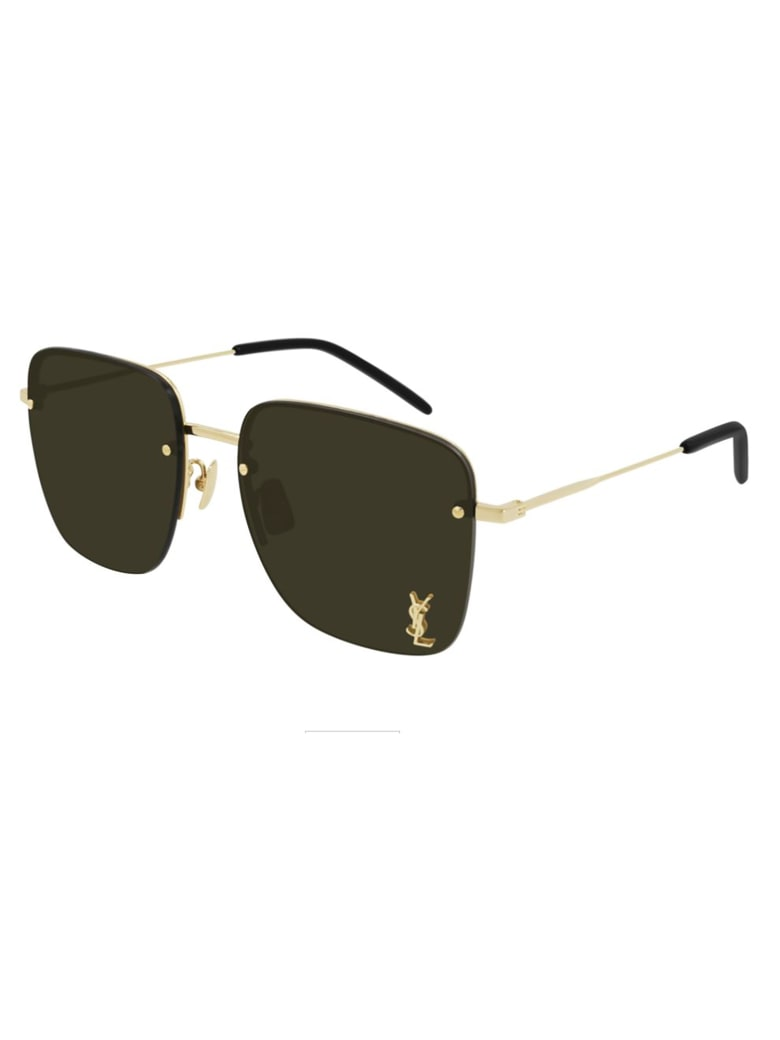 Saint Laurent SL 312 M Sunglasses - Gold Gold Brown