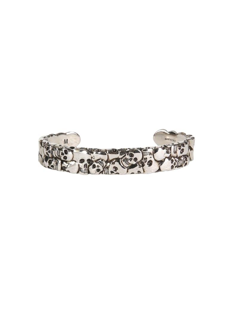 Alexander McQueen Multi Skull Bracelet - Argento