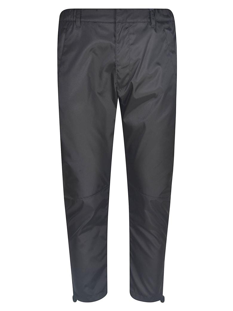 Prada Rear Logo Plaque Trousers - Black