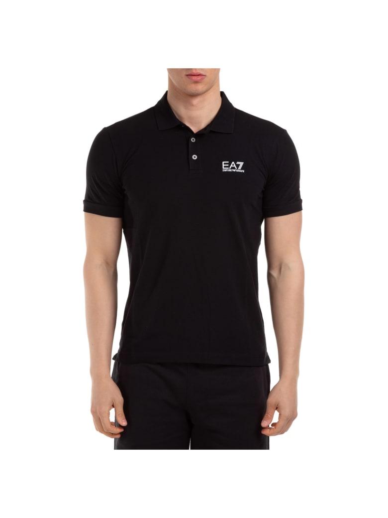 EA7 Emporio Armani Ea7 Jake Polo Shirts - Black