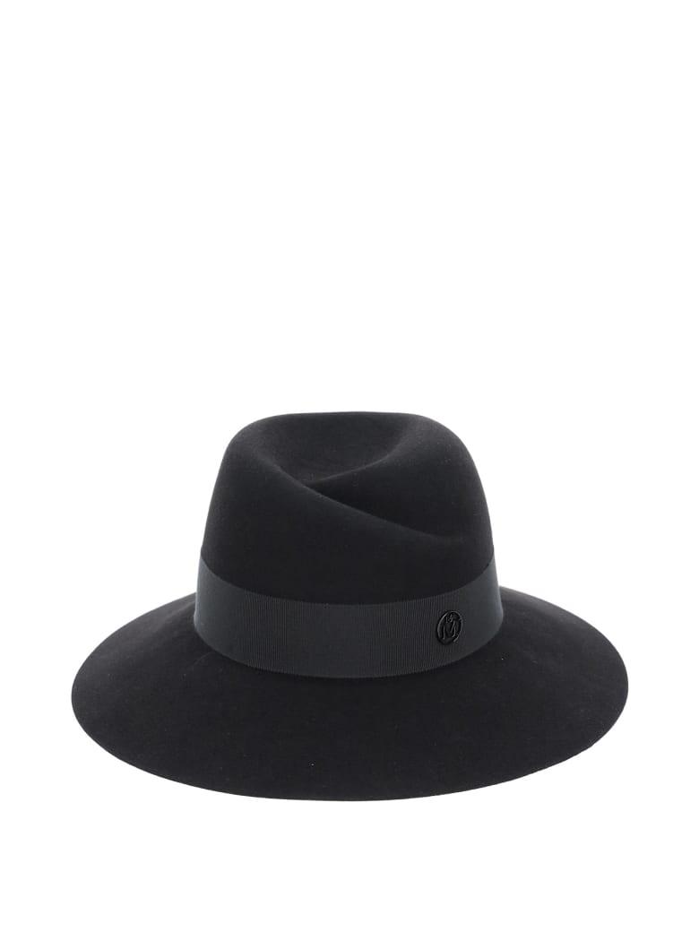 Maison Michel Virginie Felt Fedora Hat - BLACK (Black)