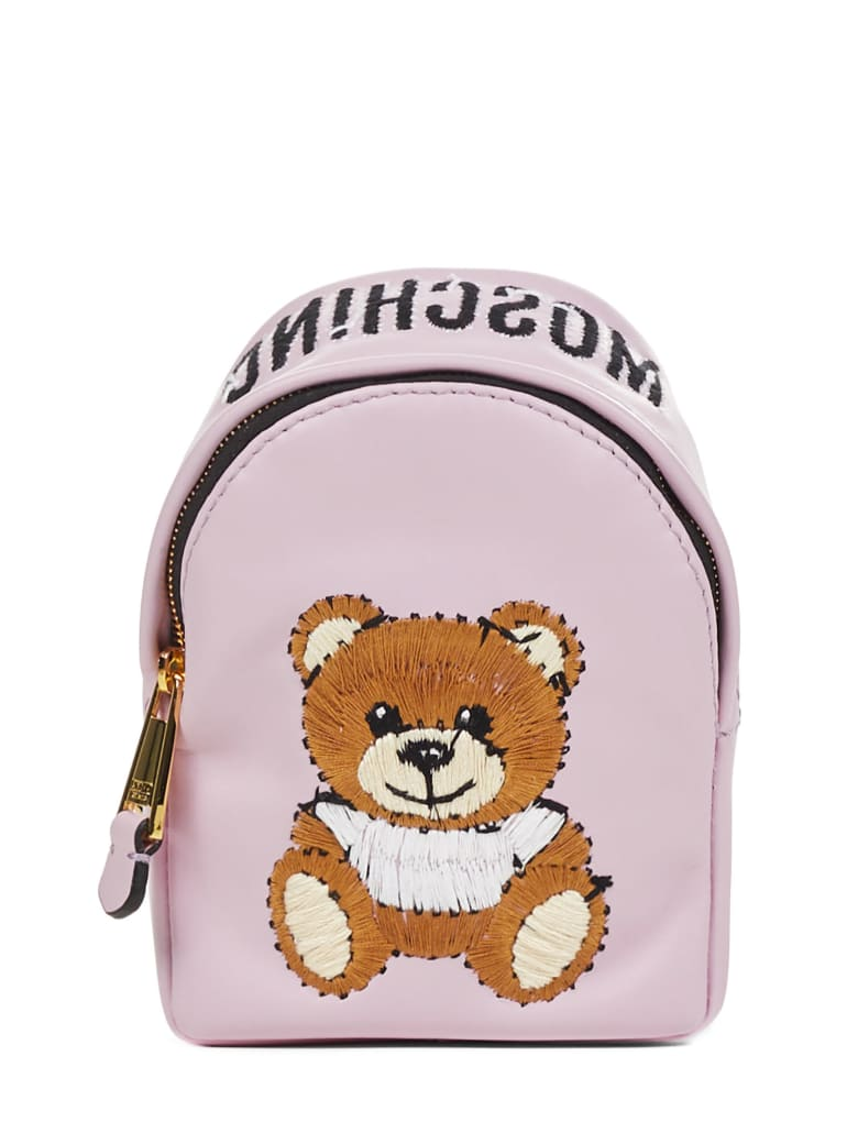 Moschino Inside Out Teddy Bear Shoulder Bag - Pink