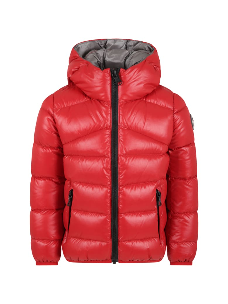 Colmar Red Jacket For Boy With Logo - Red