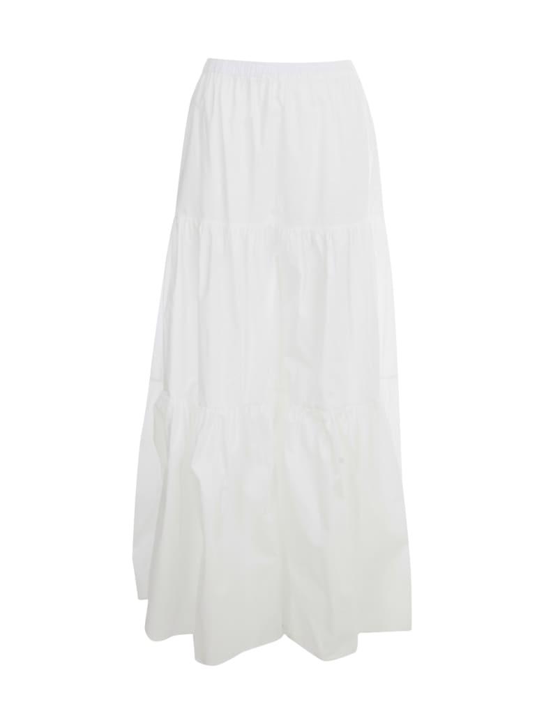 Semi-Couture. Felicie Long Skirt W/flounce - Bianco