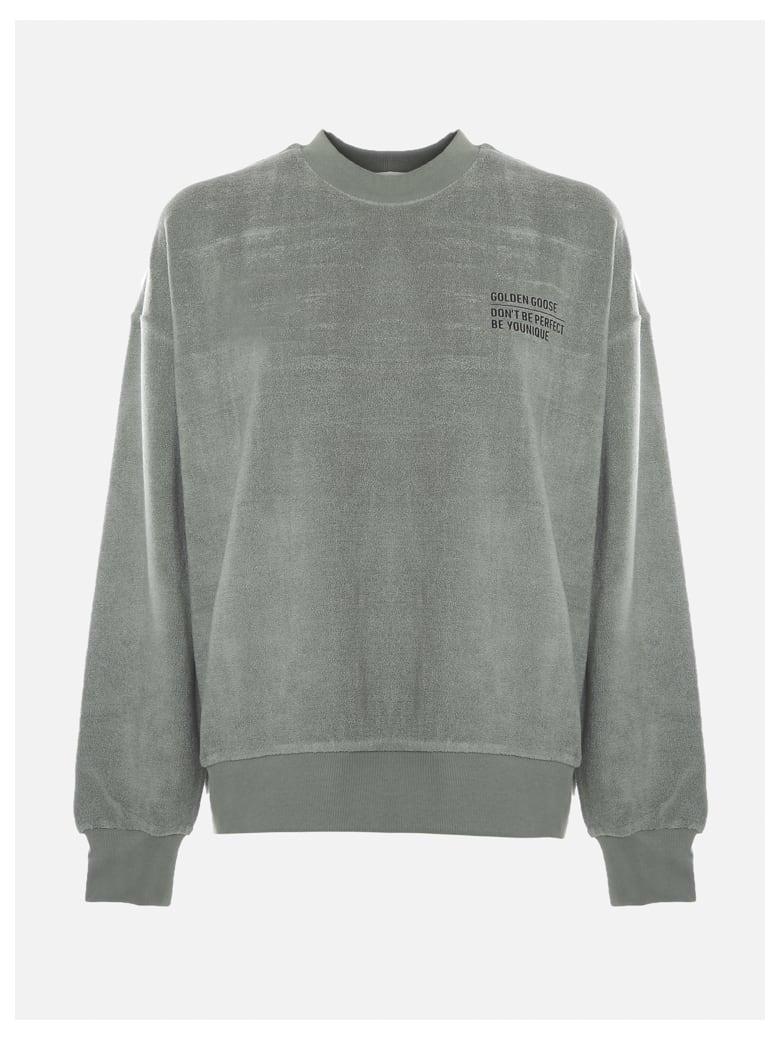 Golden Goose Oversized Delvina Sweatshirt In Chenille - Lily pad