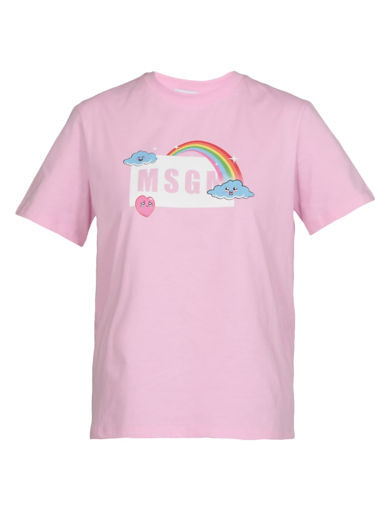 MSGM Cotton T-shirt - PINK