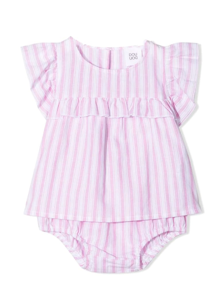 Douuod Stripe-print Ruffled Babygrow Set - Rigato