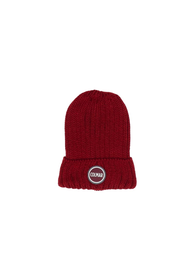 Colmar Wool Mix With Logo Hat - RED