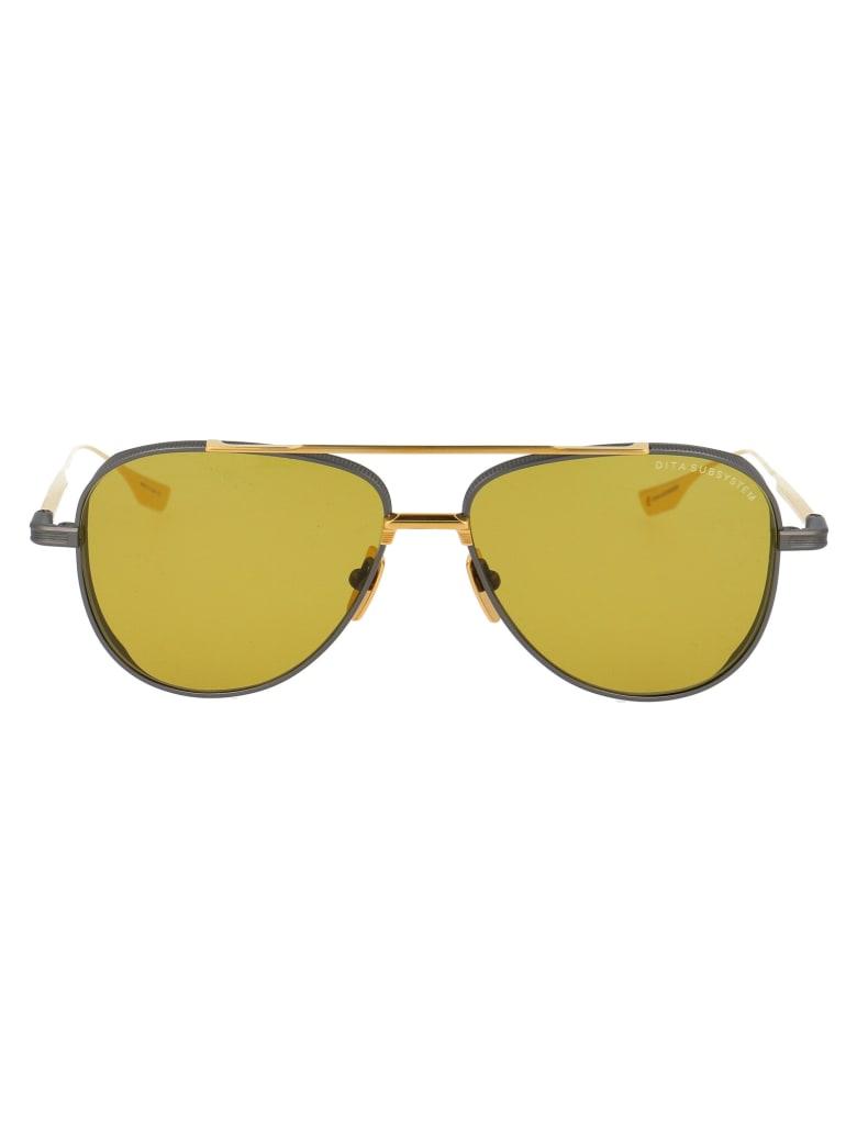 Dita Susystem Sunglasses - BLACK IRON YELLOW GOLD W/ GOLDEN AMBER