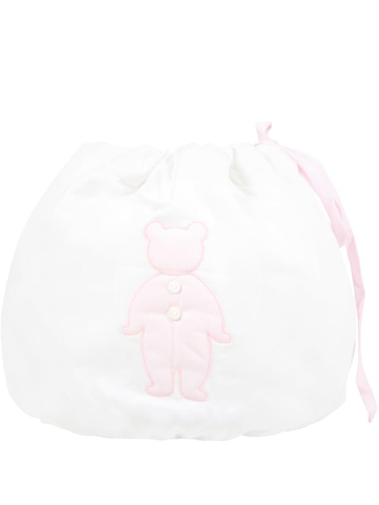 Little Bear White Bag For Baby Girl - White
