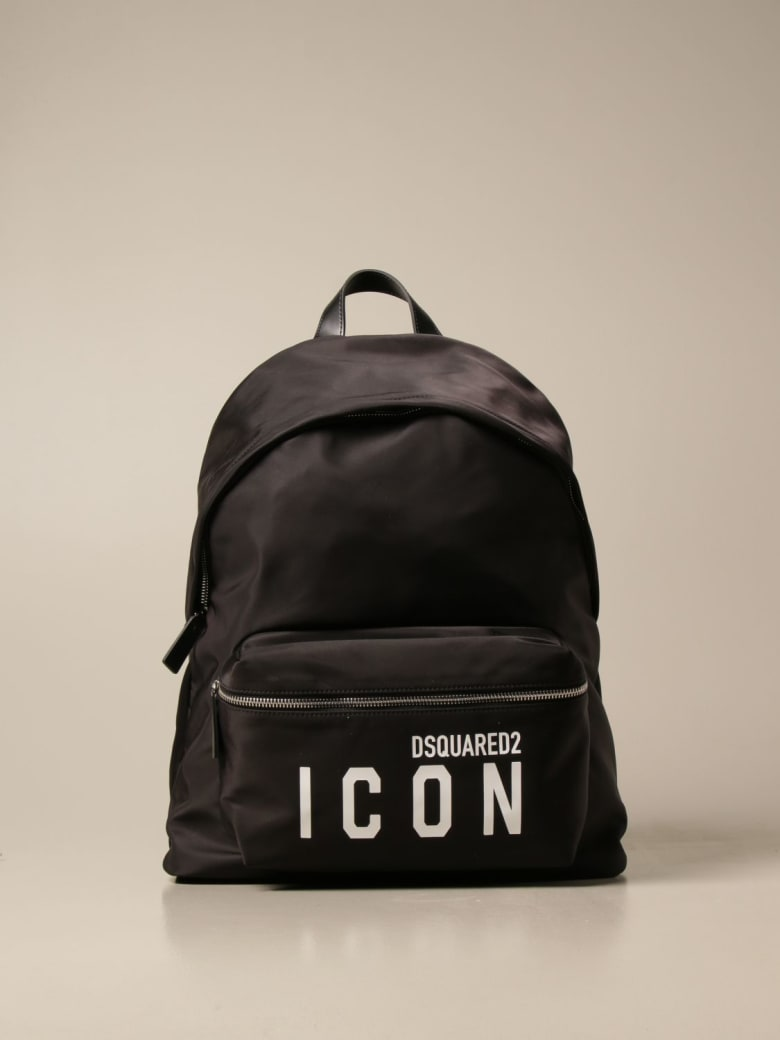 Dsquared2 Backpack Icon Dsquared2 Backpack In Nylon With Logo - Black