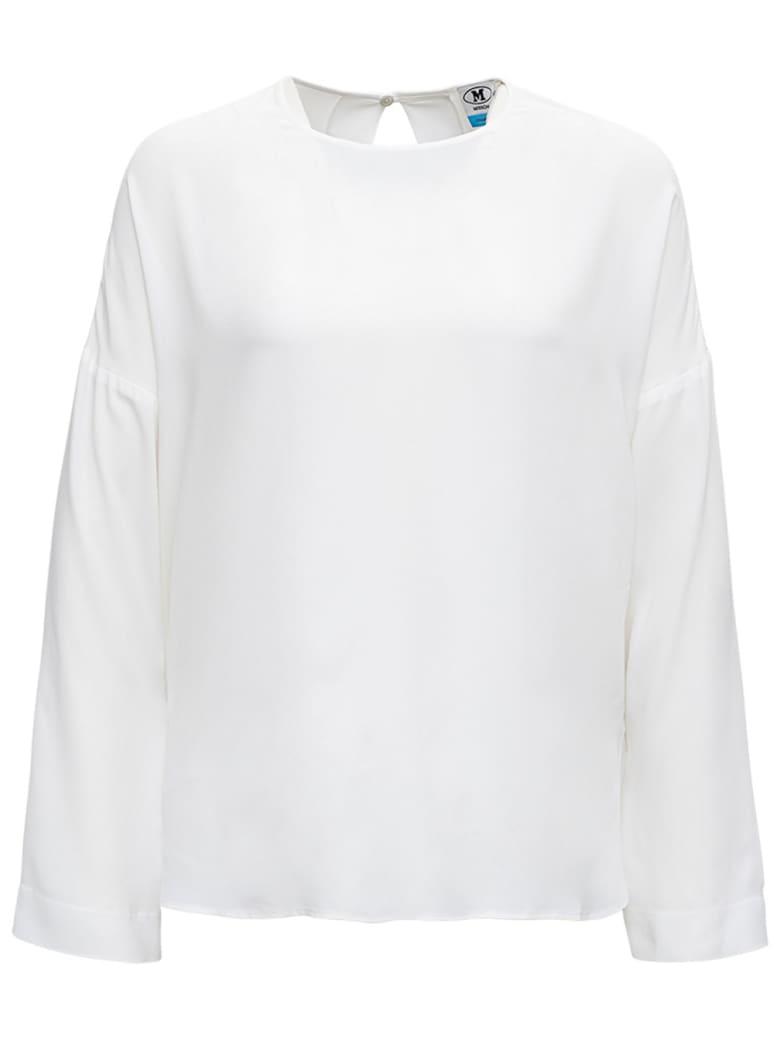 M Missoni White Blouse In Silk Blend - White