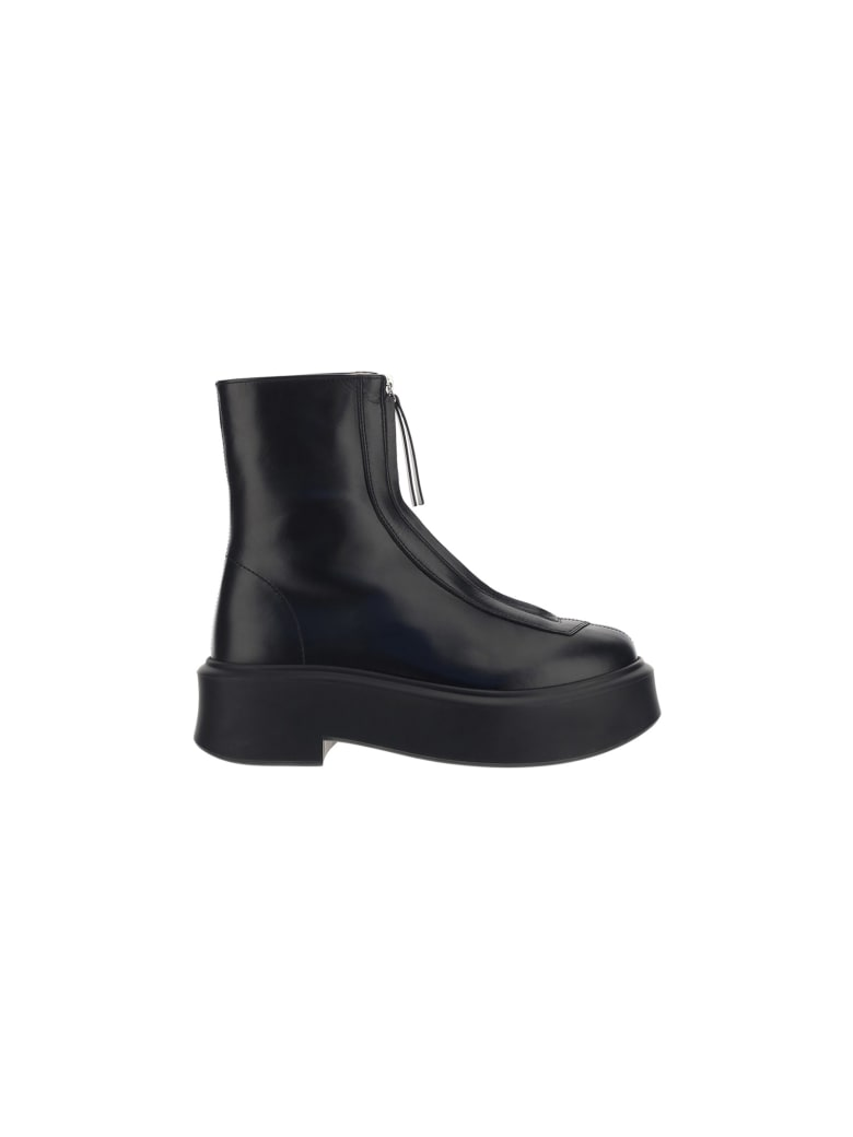 The Row Zipped Boot 1 - Black
