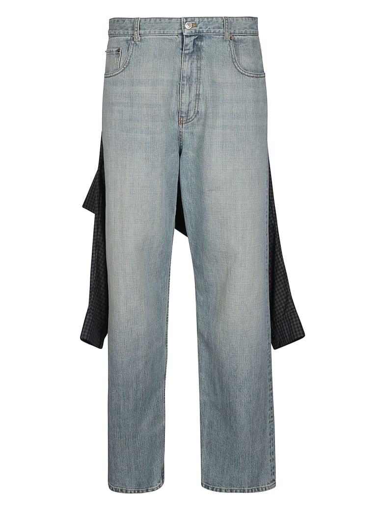 Balenciaga Shirt Detail Jeans - Blu