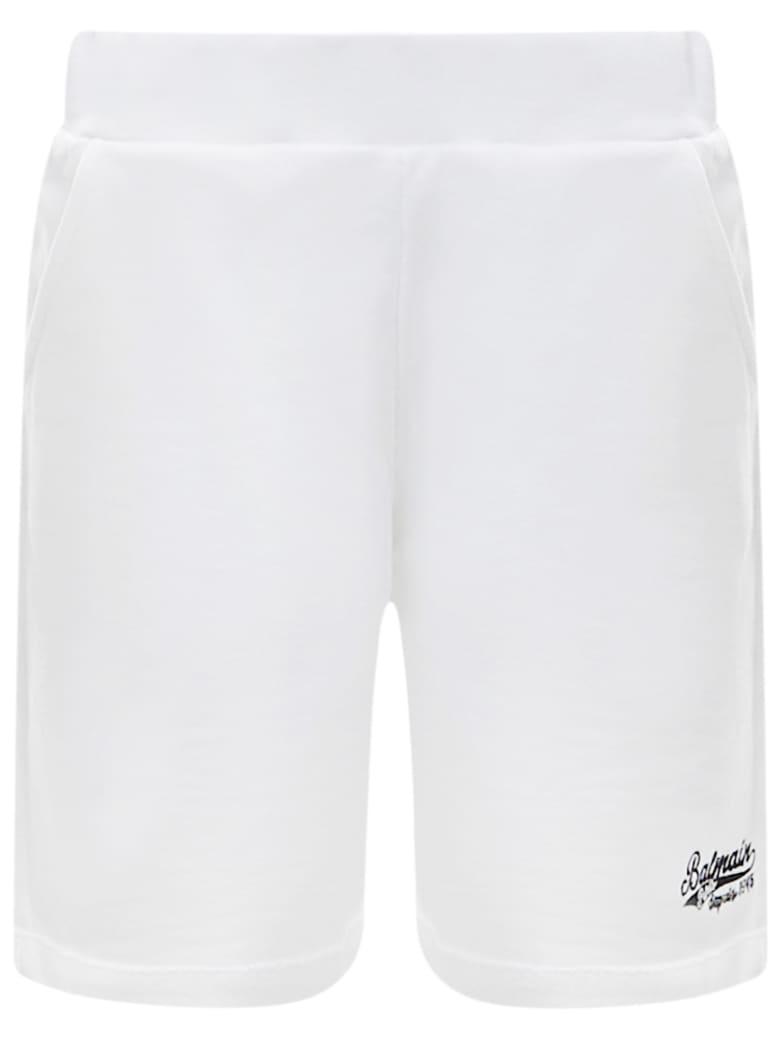 Balmain Paris Kids Shorts - White