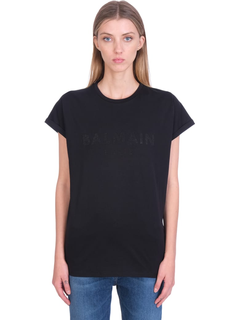 Balmain T-shirt In Black Cotton - black