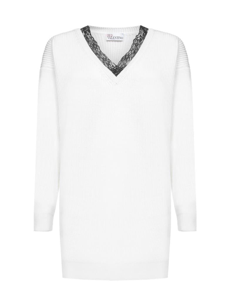 RED Valentino Sweater - Avorio pizzo nero