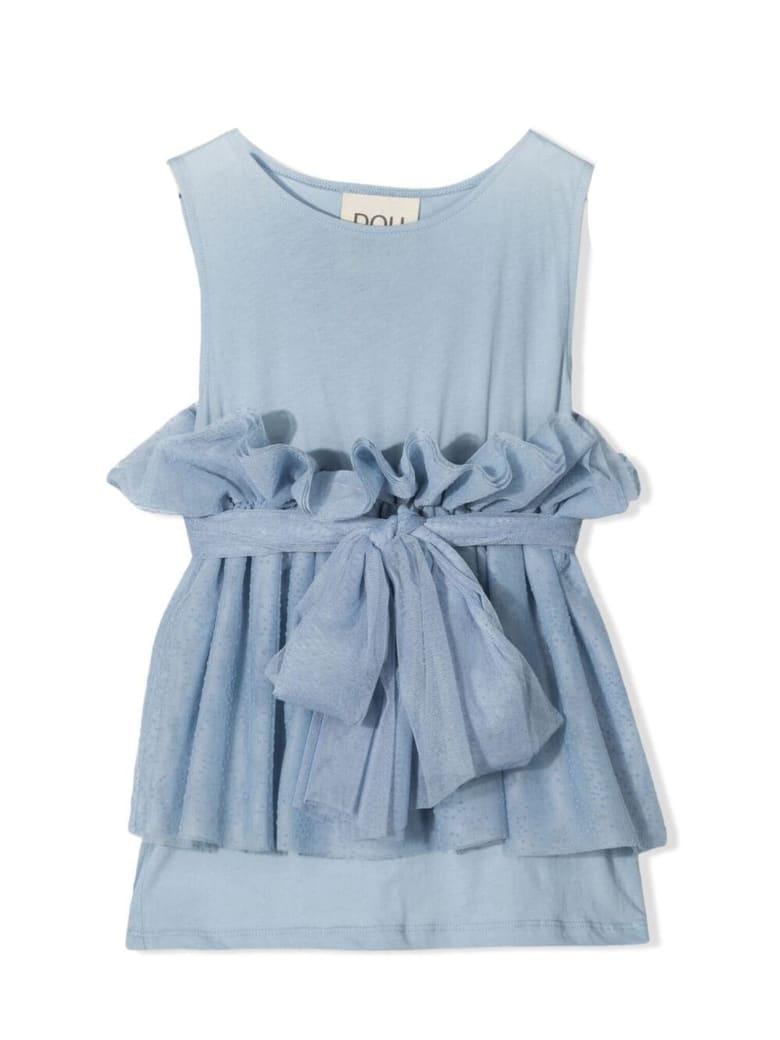 Douuod Blue Cotton Top - Azzurro