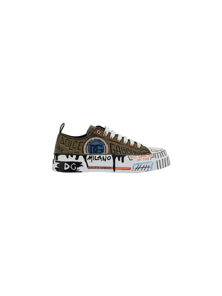 Dolce & Gabbana Sneakers - Scritte f.militare