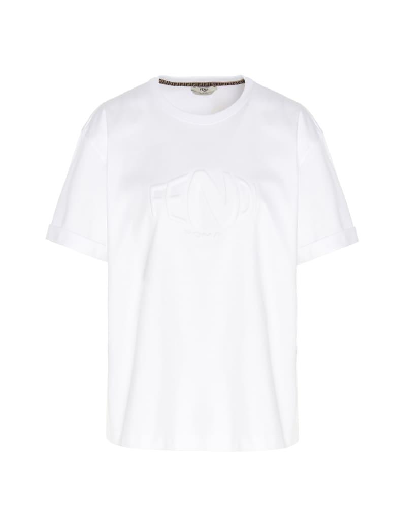 Fendi 'fendi Fisheye' T-shirt - White