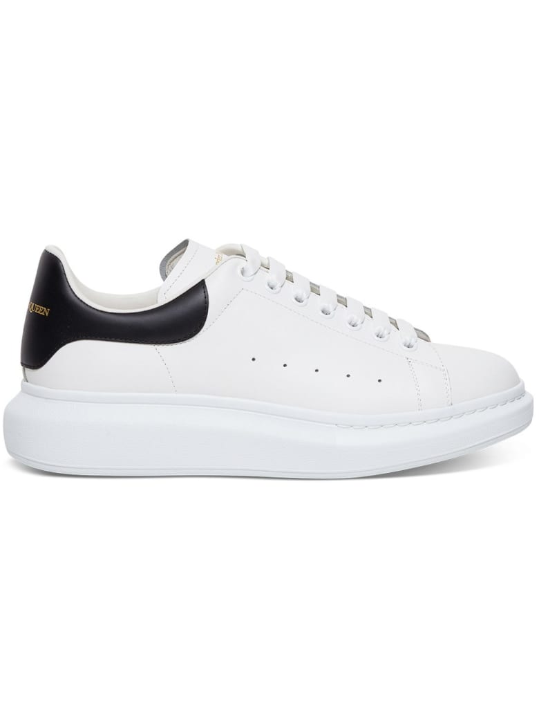 Alexander McQueen Leather Oversize Sneakers - White