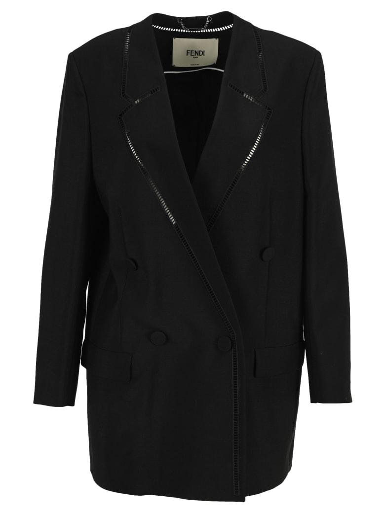Fendi Black Mohair Jacket - BLACK