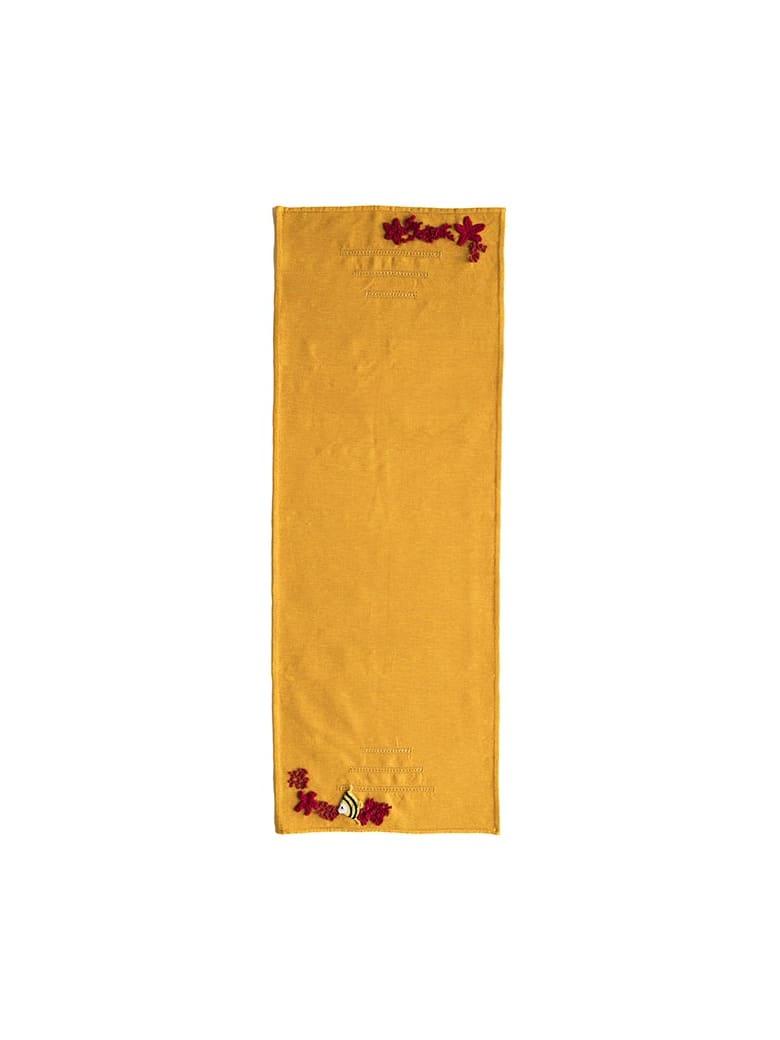 Le Botteghe su Gologone Runner Crochet 130x50 Cm - Yellow