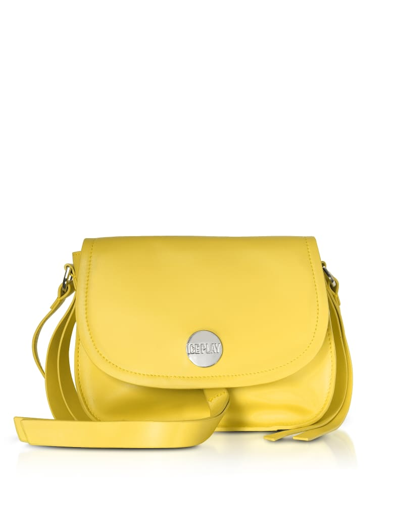 Ice Iceberg Ice Play Signature Crossbody Bag W/tassel - Yellow